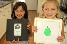 How To Make Your Own Fruitastic Art Stamps | Wondermint Kids #kidcrafts  #craftsforkids #kidsdiy #homemadegifts