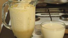 Receita a base de aveia para tirar a fome e perder peso de forma eficaz Milkshake, Glass Of Milk, Smoothie, Low Carb, Pudding, Vegan, Tableware, Health, Desserts
