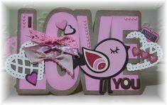 Love word shaped card  Karien van der Westhuizen
