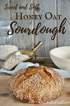 This sweet and soft Honey Oat Sourdough is hearty and delicious. This real sourdough bread makes great chewy toast or filling French toast! Soft Sourdough Bread, Sourdough Recipes, Bread Recipes, Real Food Recipes, Cooking Recipes, Starter Recipes, Yeast Bread, Whole Wheat Sourdough, Spelt Bread