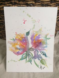 A personal favorite from my Etsy shop https://www.etsy.com/listing/505498536/rainbow-flower-watercolor