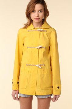 cute yellow raincoat!