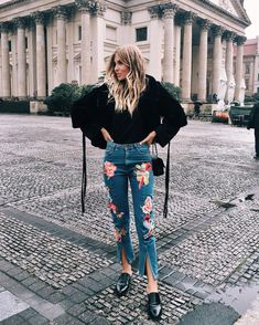 gatos jeans bordados