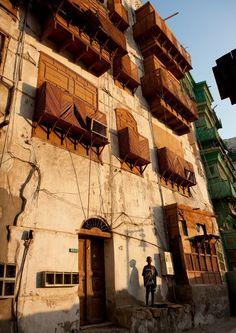 Old buildings in Jeddah, Saudi Arabia