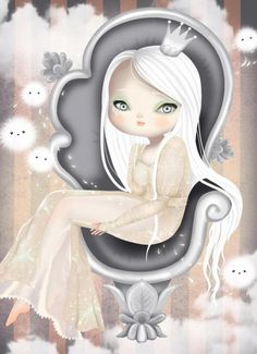 Little G — Patricia Yuste Pin Up, Fun Illustration, Pop Surrealism, Whimsical Art, Poses, Beautiful Artwork, Love Art, Illustrations Posters, Light In The Dark