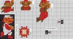 Ravelry: Super Mario patterns pattern by majji Perler Bead Mario, Pixel Pattern, Lego Worlds, Knitting Charts, Knitting For Kids, Knit Patterns, Super Mario, Perler Beads, Cross Stitch
