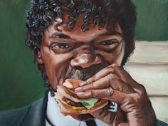 Modern Art Paintings, Mini Paintings, Modern Art Prints, Wall Art Prints, Canvas Prints, Pulp Fiction, Burger Cartoon, Art Mur, Delicious Burgers