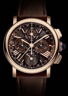 La Cote des Montres : Montre Rotonde de Cartier quantième perpétuel chronographe - Mesurer les temps longs de l'existence !