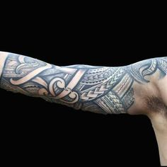 75 Half Sleeve Tribal Tattoos For Men - Masculine Design Ideas