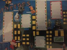 Year 3 created superhero puppets as a stimulus for writing.