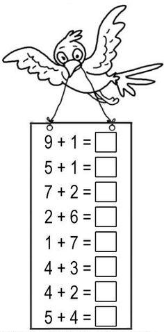 First Grade Math Worksheets, Free Math Worksheets, Kindergarten Worksheets, Preschool Lesson Plans, Preschool Learning Activities, Teacher Cards, Homeschool Kindergarten, Math For Kids, Math Lessons