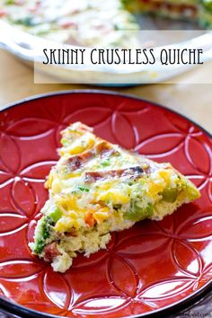 Skinny Crustless Quiche | A Latte Food