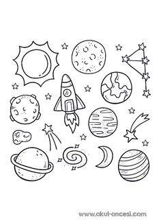 Pack of hand drawn planet in doodle styl. Space Drawings, Mini Drawings, Art Drawings Sketches, Easy Drawings, Easy Doodle Art, Doodle Art Drawing, Planet Drawing, Space Doodles, Travel Doodles