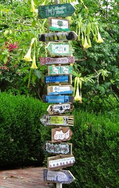 ...a quiet life...: a sign of the times...Literary directional totem pole!
