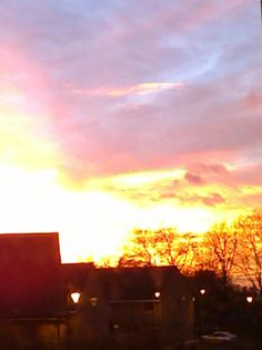 Sunset over leytonstone East London, Clouds, Celestial, Sunset, Places, Outdoor, Outdoors, Sunsets, Outdoor Games