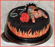 Geburtstagstorte weiblichen Heavy Metal Fan 22114801