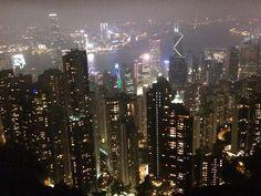 Filming Hong Kong by night