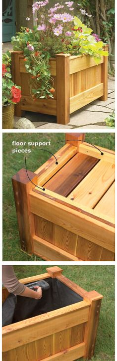 Deck Planter - I wonder if I could talk my hubby into building this for me - a couple even - for our back porch.