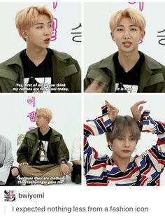 Does anyone remember the bangtan bomb where tae acts as the sassy fashion designer