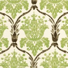 Nice for Great room pillows, mixed with solids and other patterns. Ophelia Green Fabric by the Yard