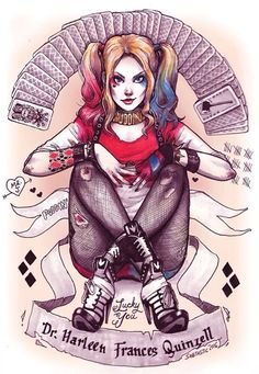 Harley quinn --Be your own Whyld Girl with a wicked tee today! http://whyldgirl.com/tshirts