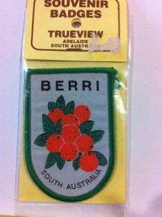 Vintage Souvenir Patch Berri S.A. Oranges