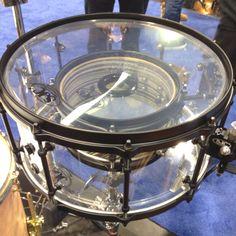 Snare drum inside a snare drum. SJC Drums