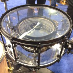 Snare drum inside a snare drum. SJC Drums. I saw a video on YouTube of this snare at NAMM and it sounded really cool!