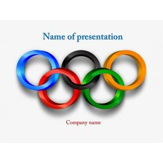 Flag of south korea powerpoint theme this beautiful and creative free olympic rings powerpoint template background for presentation free toneelgroepblik Image collections