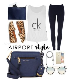"""""""Untitled #7"""" by sarahszejn on Polyvore featuring ATM by Anthony Thomas Melillo, Marc Jacobs, Mark & Graham, Calvin Klein, Native Union and Ray-Ban"""