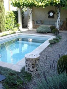 Pools For Small Yards, Small Swimming Pools, Swimming Pool Designs, Lap Pools, Indoor Pools, Indoor Swimming, Jacuzzi, Backyard Pool Designs, Small Backyard Landscaping