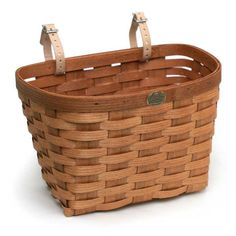 Add a classic look to any bicycle, walker etc., with this durable 100% made in the USA wooden basket!