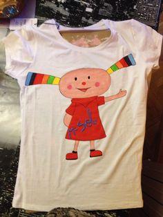 Camiseta Nuba pintada a mano