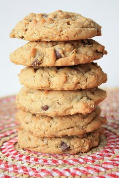 Peanut Butter~Oatmeal~Chocolate Chip Cookies