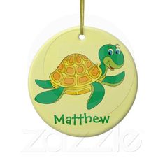 Personalized Turtle Ornament