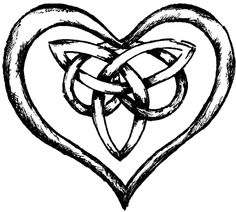 knotted heart with trinity knot