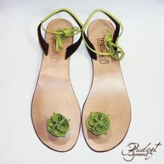 59b660eb7 I love them in green! Jamaican made, beautifully crafted leather-Bridget's  sandals