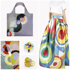 From the #Tate to the #DSQUARED2 runway! Sonia and #RobertDelaunay are the most glamorous inspiration of 2015. Find the endless rhythm of their designs in our LOQI #museumcollection!  http://bit.ly/1SMFUnq