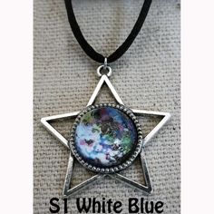Galaxy of Stars Necklace White and Blue main by Fractured Infinity FracturedInfinity.etsy.com Star Necklace, Pendant Necklace, Space Jewelry, Infinity, Stars, Blue, Etsy, Infinite, Sterne