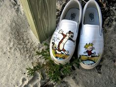 calvin and hobbes painted shoes   This Is: Brian Poland: February 2010