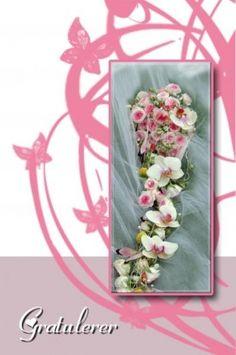 Bukett - Bryllupskort m/konvoluttTekst: GratulererFoto/design: Randi Grace Nilsberg