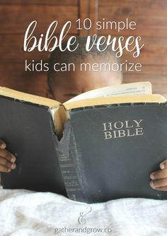 These 10 simple Bible verses are perfect for kids to memorize and begin to hide God's Word in their heart! Try not to feel overwhelmed at the thought of teaching your children to remember scr… Bible Verses For Kids, Bible Study For Kids, Kids Bible, Scripture Memorization, Train Up A Child, Christian Kids, Memory Verse, Bible Crafts, Kid Crafts