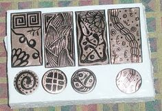 Zentangle etching with sharpie on copper #metal #jewelry #tutorial