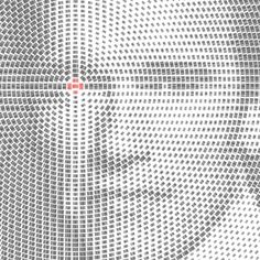 Scannable barcode portraits Wall to Watch in Typography & Graphic Design