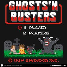 Ghosts 'N Busters T-Shirt - Ghostbusters T-Shirt is $11 today at Ript!