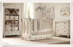 Elegant baby girl nursery