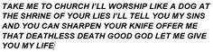 Tes Skyrim, Dark Brotherhood, Take Me To Church, Speak The Truth, You Lied, Take My, Song Lyrics, Worship, Self