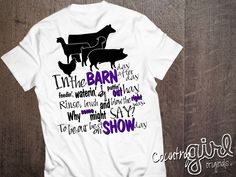 Show Day Tee...   Get your Barn Life Show Day Tee for $25.00 Today