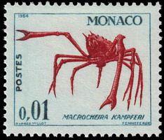 Monaco stamp - Giant Japanese Spider Crab