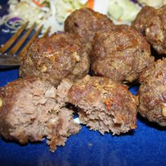 The Best Meatballs You'll Ever Have -Very tasty meatballs full of spice and sauteed to perfection. I usually serve mine with spaghetti, but I've also served them with a BBQ sauce and rice on the side.